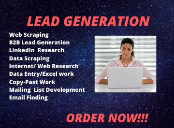 I Will Do B2B Lead Generation, Data Entry,  ANd Web Research