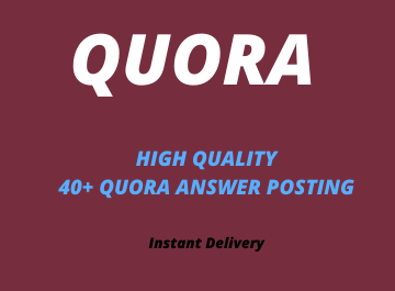 Provide you guaranteed high quality 40 Quora answer with link