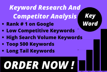 I will do depth SEO keyword research and competitor analysis
