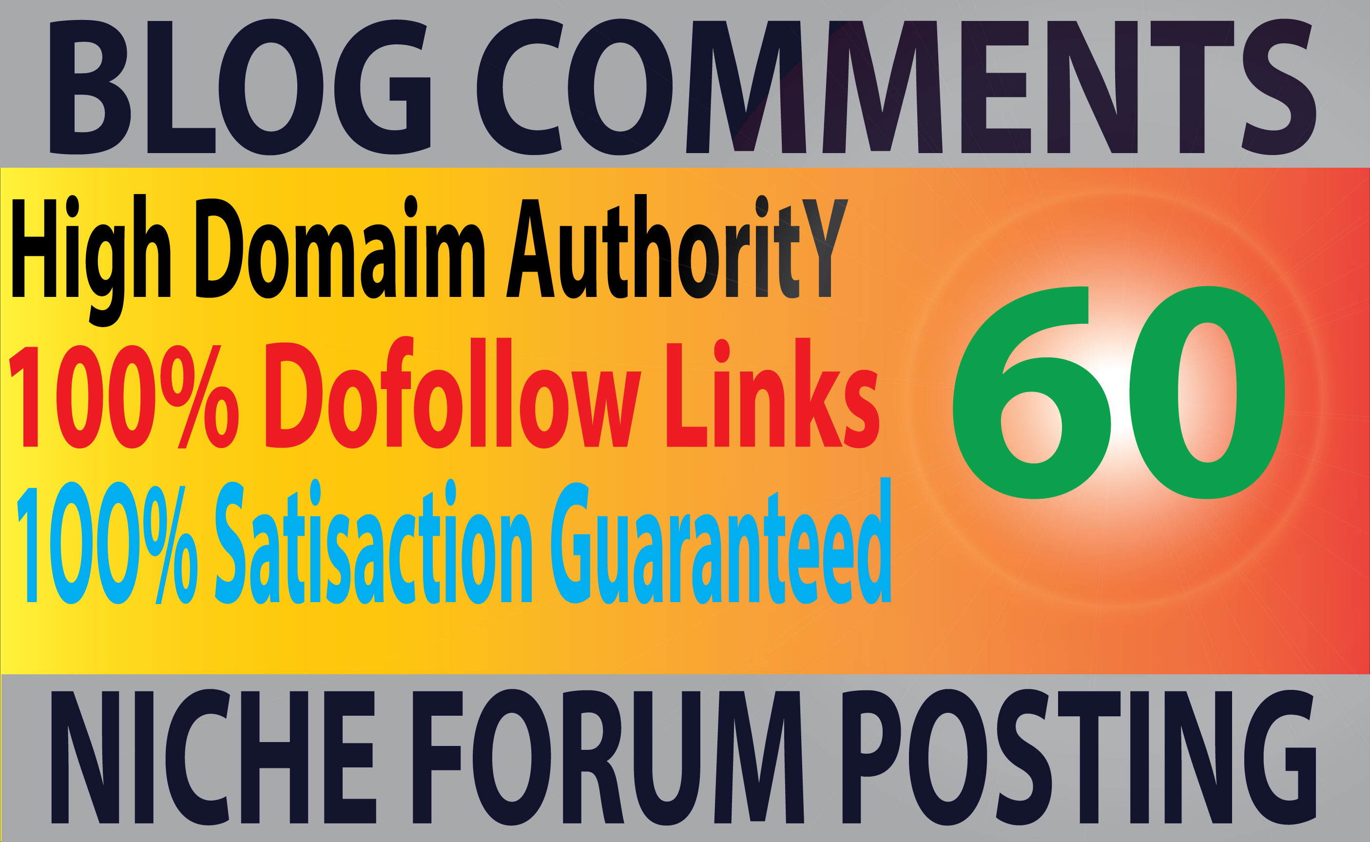 I will Do high quality 60 niche relevant backlinks