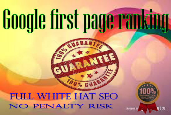 Guaranteed ranking Your Website on Google first Page