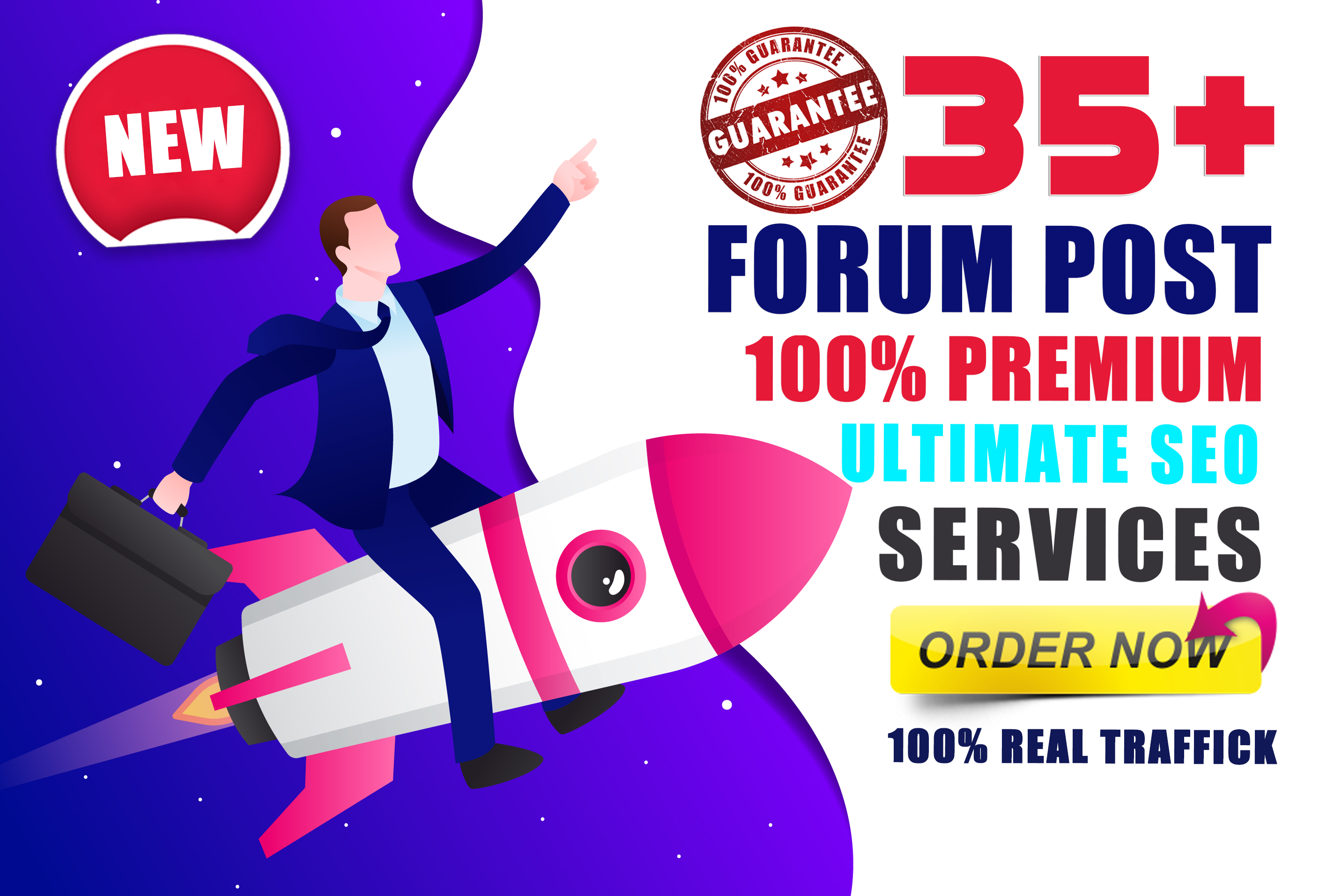 Manually Create 35 HQ Forum Posting For Real Traffic and Rank