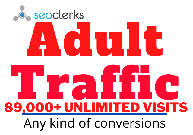Get Adults website Traffic,  Promotions and Marketing for 30 days