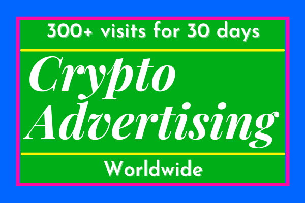 Latest crypto advertising visitors web traffic service for 30 days
