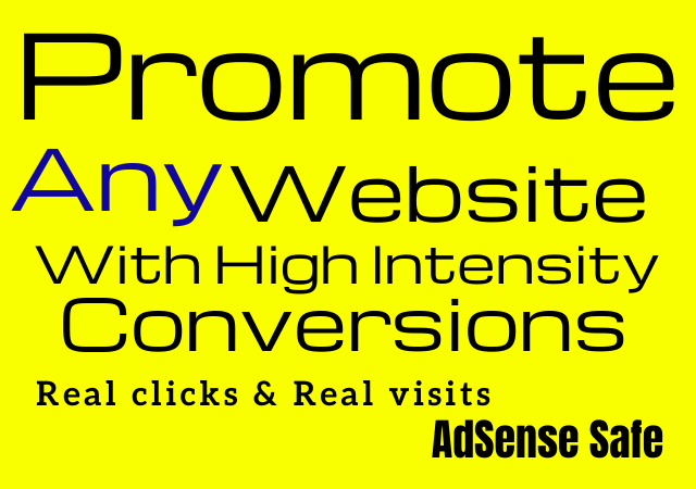 Promote any website with High Intensity Conversions