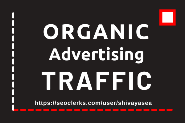 Let's drive super professional niche targeted organic advertising web traffic