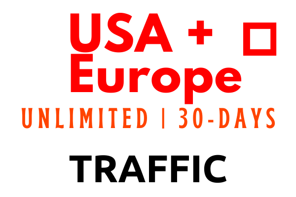 Unlimited USA and Europe Targeted web traffic for 30-days