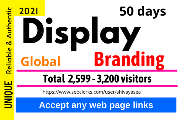 Drive niche targeted display ads advertising web traffic