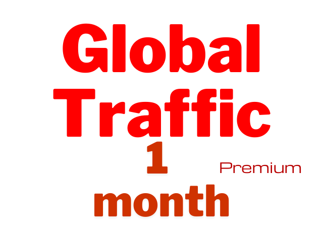 Get worldwide traffic for 1 month