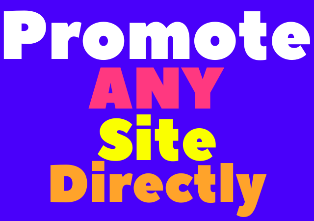 Get promotional traffic to any site