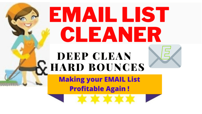 I will deep clean and hard bounce of your email list