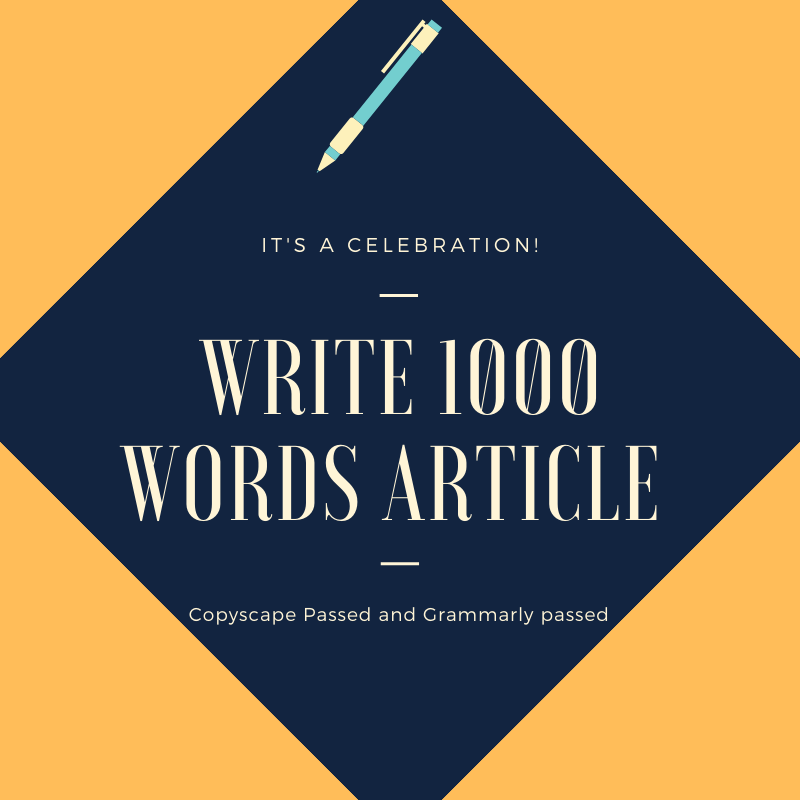 Unique 1000 words article,  blog,  content writing copyscape and Grammarly passed
