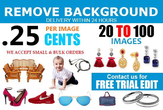 I will photoshop editing background remove of 20 photos in 24 hours