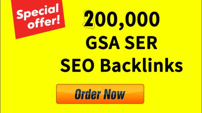 Provide 200,000 GSA SER SEO Backlinks
