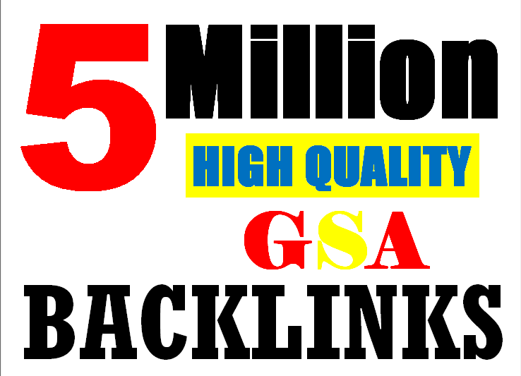5M verified GSA High-Quality & Powerful SEO Backlink for websites, videos to achieve your goal