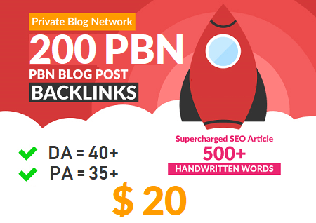 Amazing DA 40+ PA 35+ web 2.0 200 Powerful PBN 200 unique site