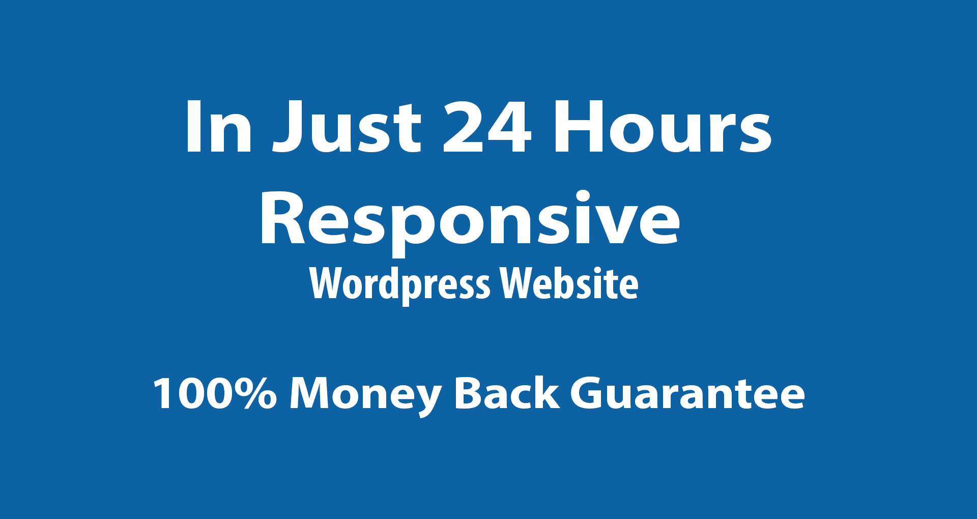 I will develop a high quality wordpress website in just 24 hs