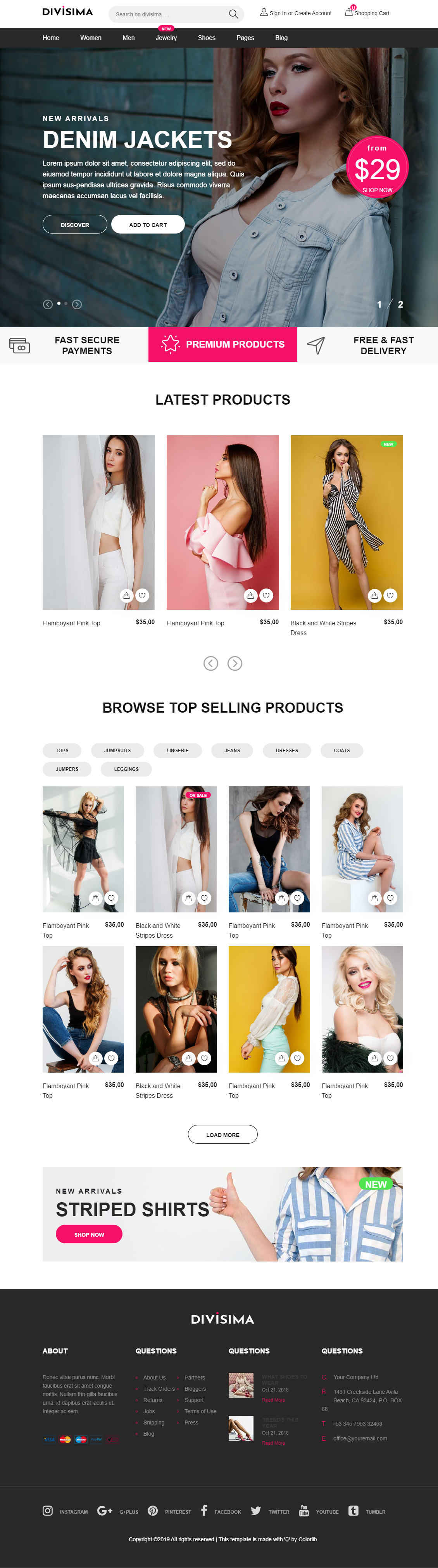 Build a Complete Responsive Ecommerce Website With Free Or Premium Themes