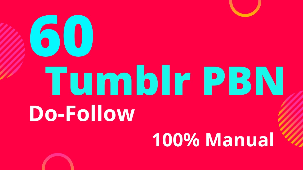 get 60 tumblr do follow backlinks DA 98 high PA