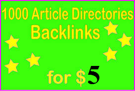Create 1000+ HQ PR Article Directories Backlinks