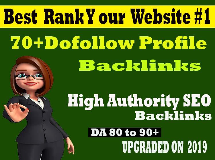 Create 70+ Pr9 High Authority Dofollow Profile Backlink Best Rank Your Website