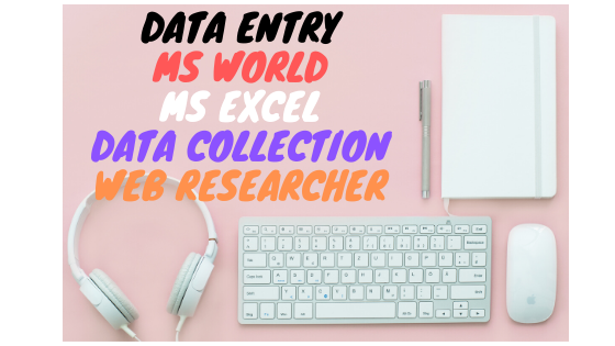 I will do your data entry,  collection,  copy,  paste and web research work