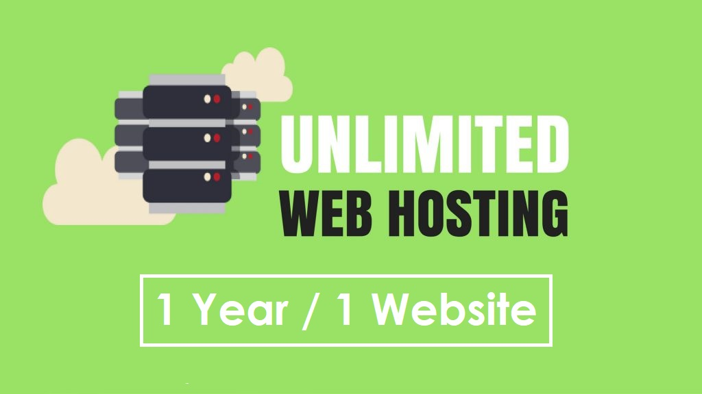 1 YEAR Unlimited WebHosting + Bonus. Amazing Hosting Offer.