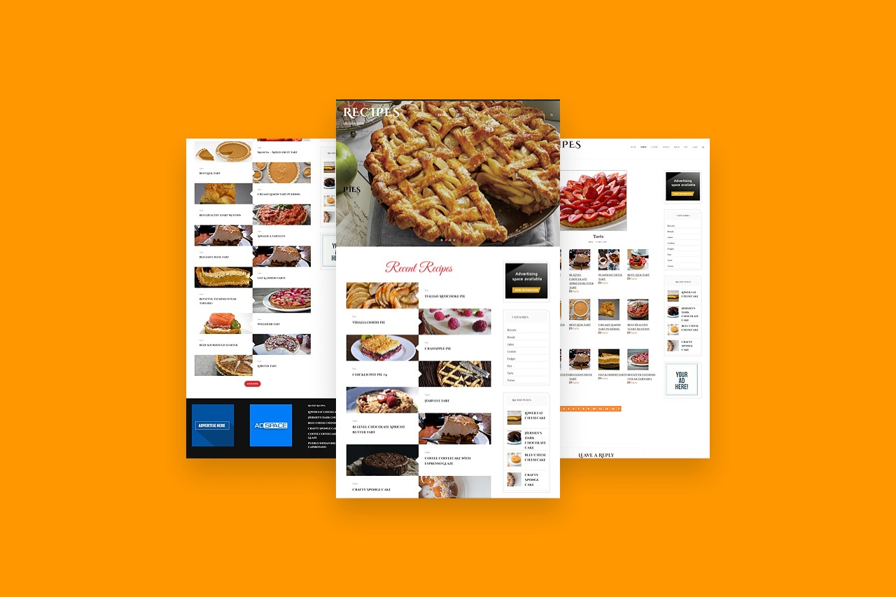 +13000 Recipes WordPress Established Website ll Highly profitable