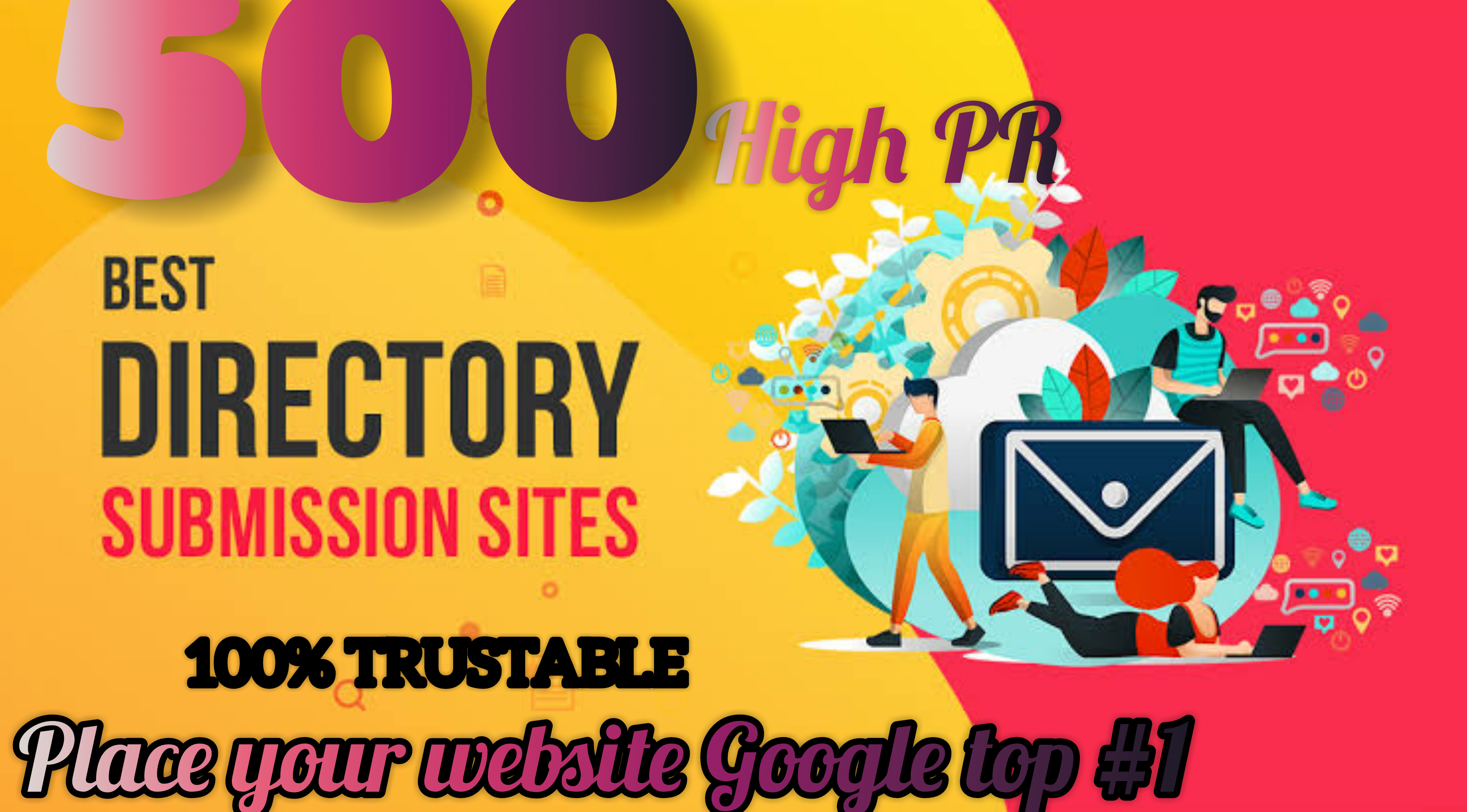 We will create 500 do follow High PR4-PR7 back links within 1-3 days