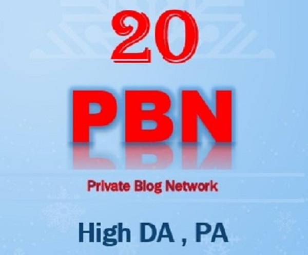 Provide 20 HomePage Dofollow PBN Backlinks