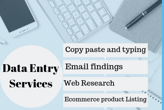 I will do fastest data entry, web research, excel, word, PPT and copypaste work for you