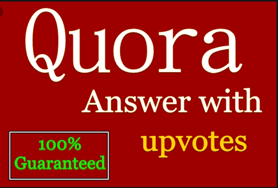 Get manually HQ 40 Quora answer & backlink