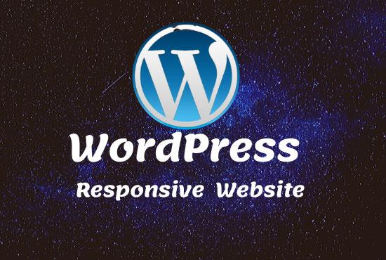 Build your Install Wordpress & website cutomaiz