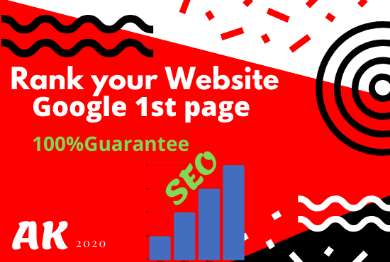 Rank your website first page of google guaranteed