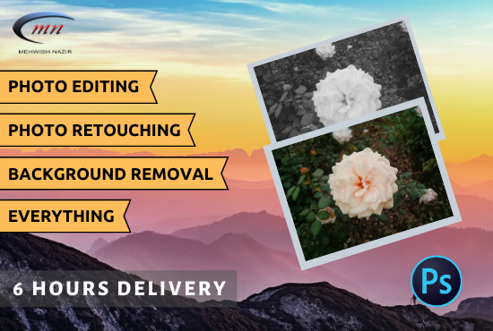 I will do any photoshop editing and retouching