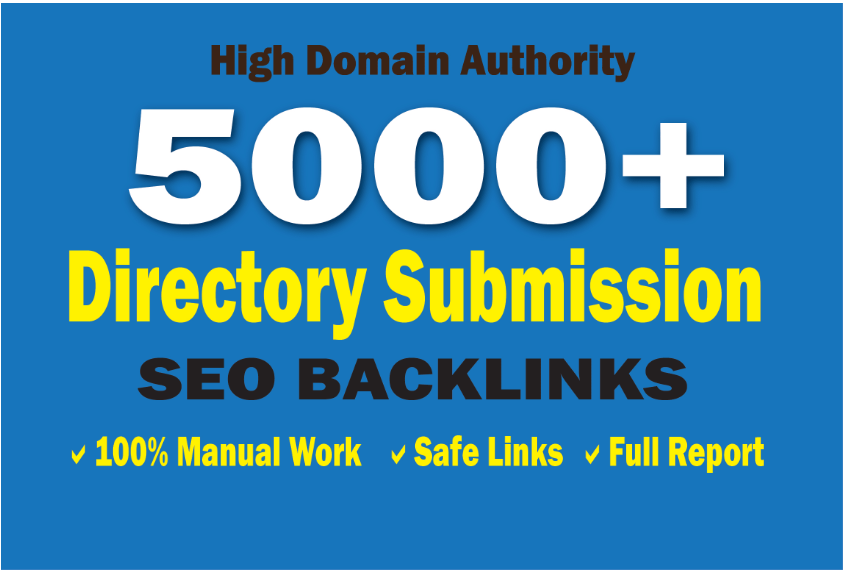 Do 5000 SEO Directory Submission Backlinks From PR1 To PR9 Wih DA-PA-TF 100-45