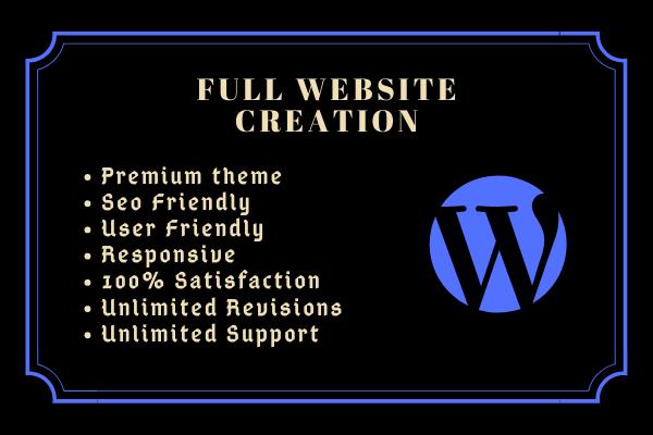 Get a responsive WordPress website with premium theme