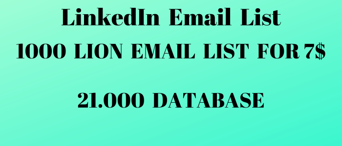 1000+ LION LinkedIn Email List