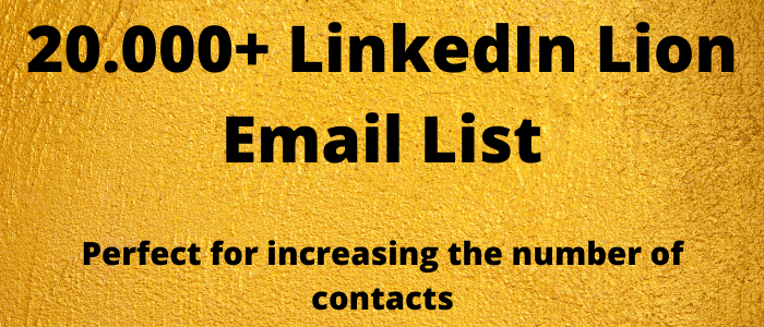 20.000+ LION LinkedIn Email List
