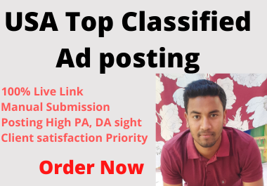 I will post your Ad Top 50 USA Classified site