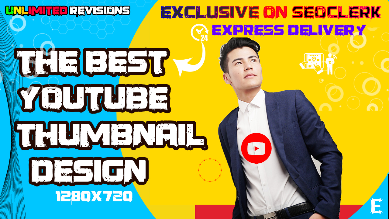 Design 2 Eye Catchy Professional YouTube Thumbnails