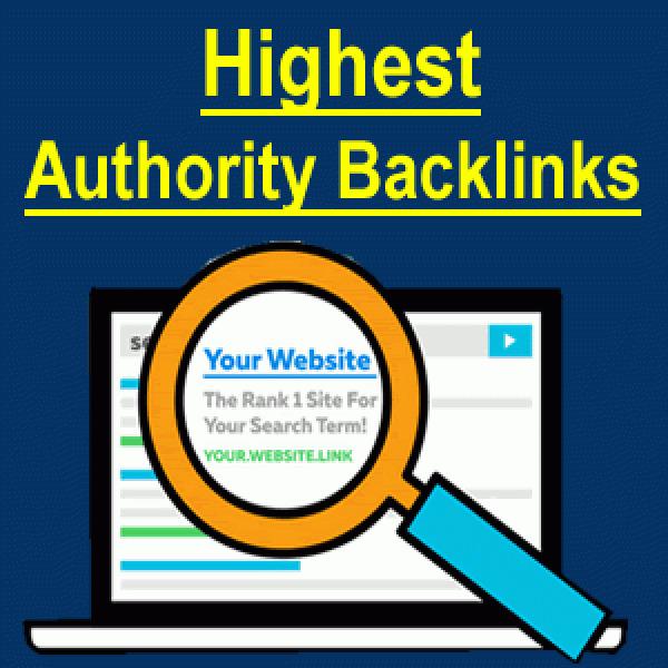 I will do 100+ high domain authority SEO backlinks