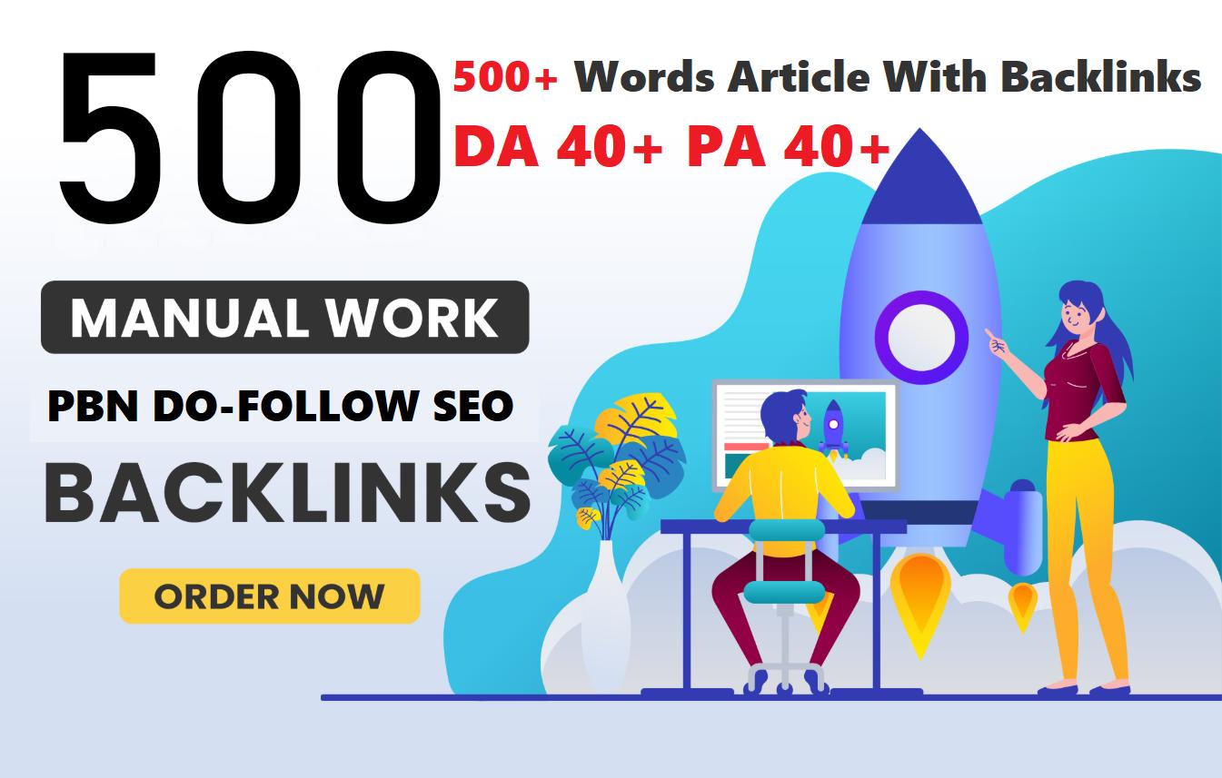Unique 500 Sites DA 40+ PA 35+ PR 5+ Web 2.0 500 PBN