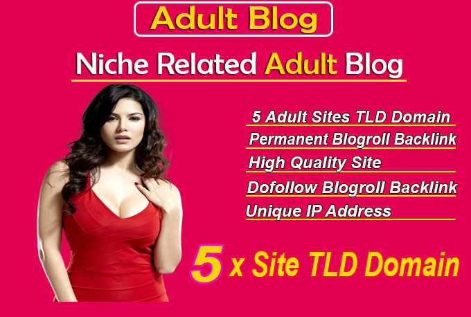 give your backlink on 5 sites tld adult blogroll permanent