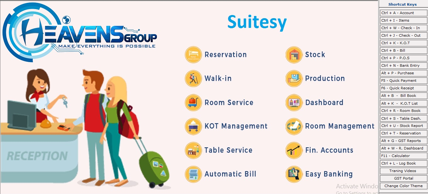 Hotel & Restaurant system with accounting