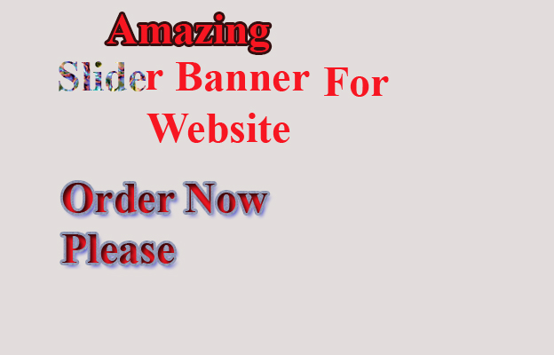I will create modern amazing website banner and sliders