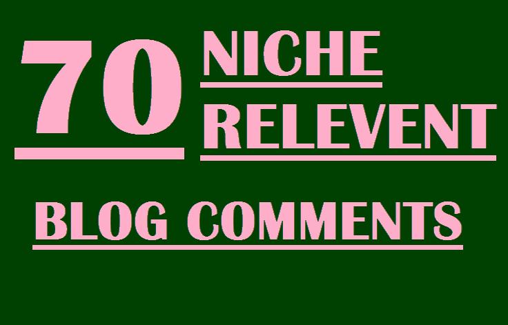 I will do 70 niche relevant blog comment backlinks