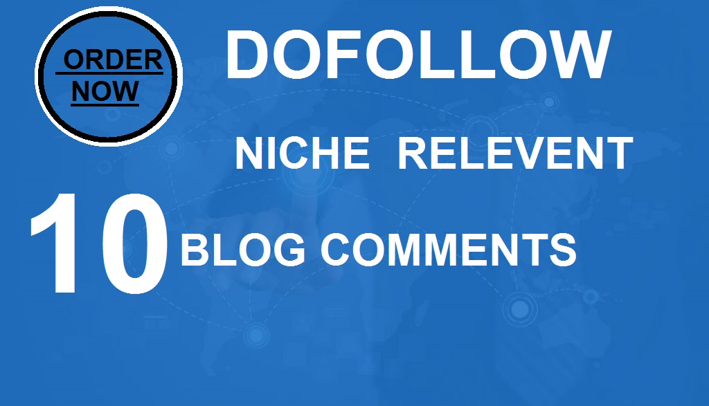 I will do manually 10 dofollow niche relevent blog comments