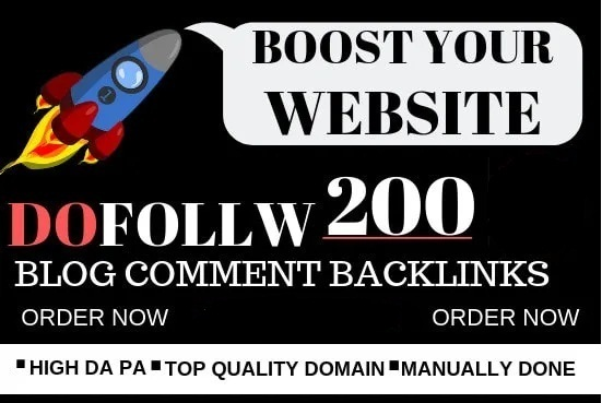 I will do 200 do-follow blog comment DA 30+
