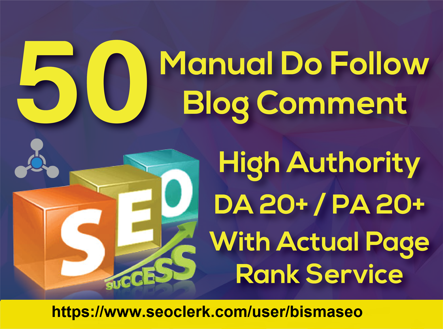 Provide 50 Blog Comment High Da/Pa and Tf/Cf